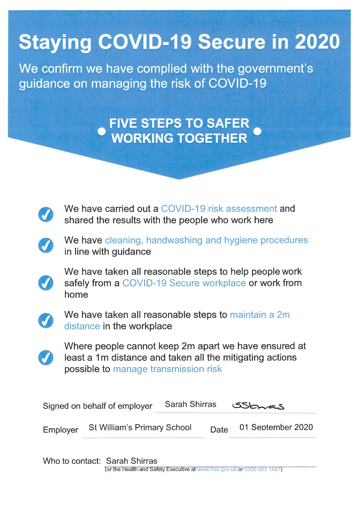 Staying Covid 19 Secure Page 0001
